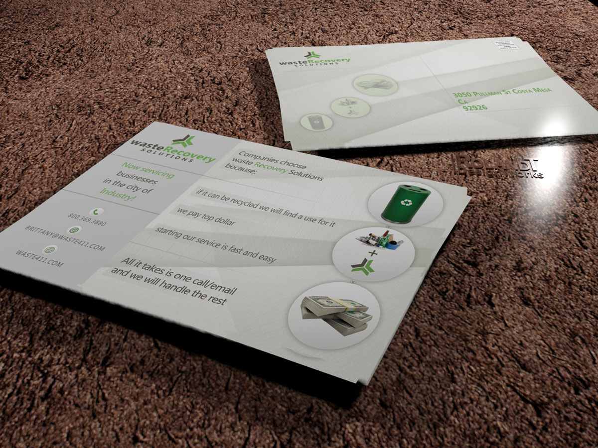 recycling postcard design for waste recovery solutions by rolandt