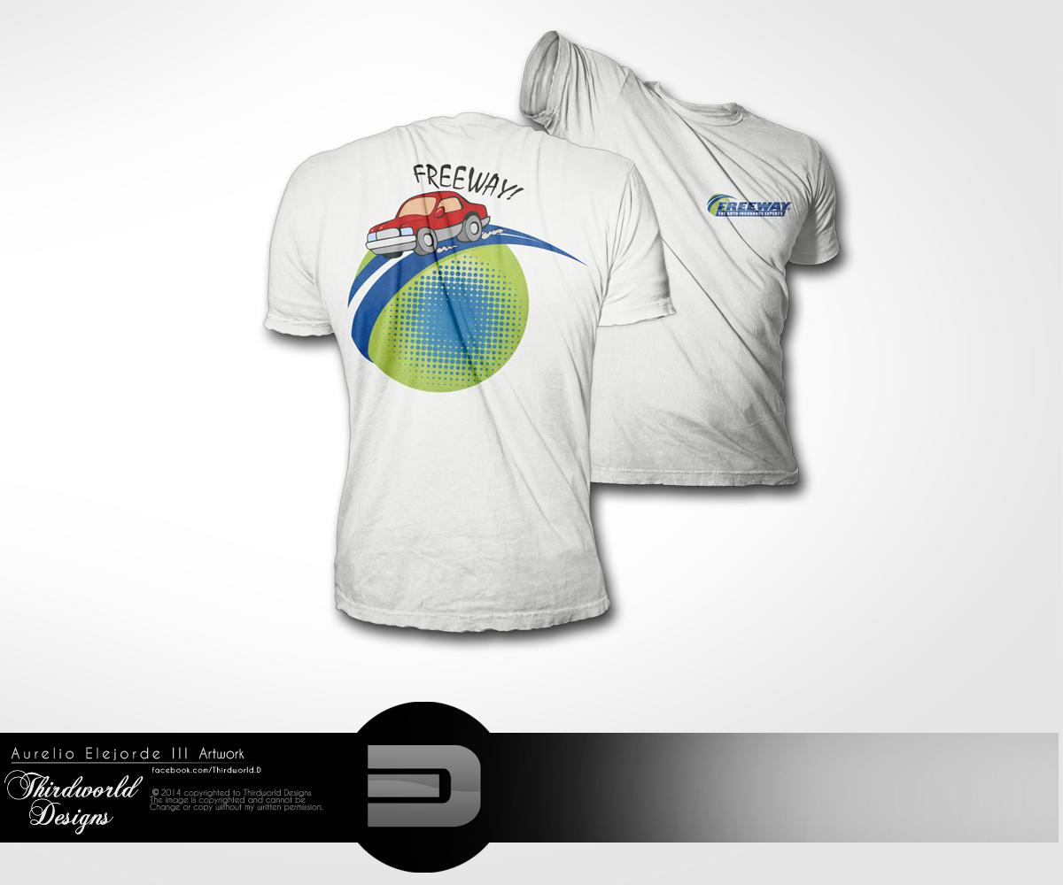 Insurance t shirt design for freeway insurance services for T shirt design service