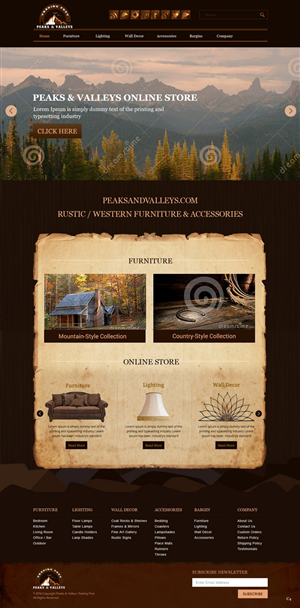Web Design By Pb For Peaks Valleys Trading Post