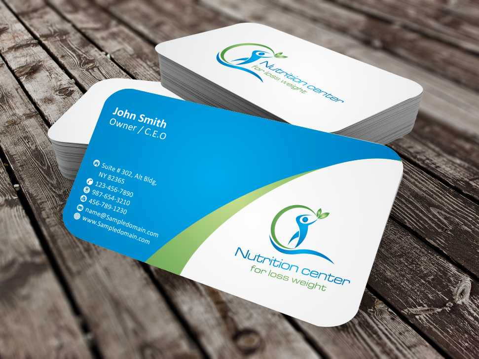Modern professional weight business card design for balance business card design by szabist for balance nutricion design 4252427 colourmoves