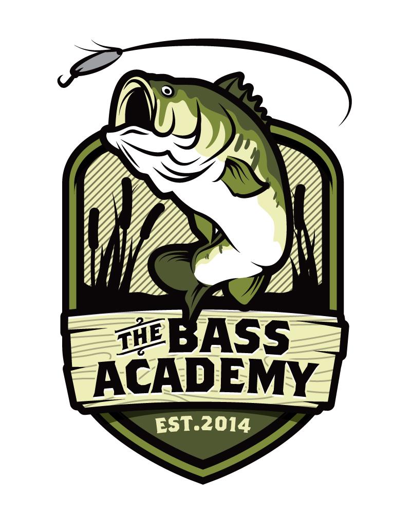 Bass fishing logo design