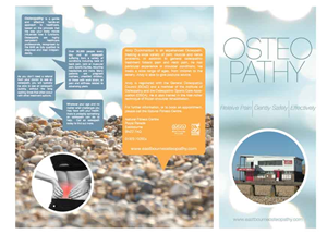 Brochure Design by Mr_gonz - Trifold Leaflet - Osteopathy