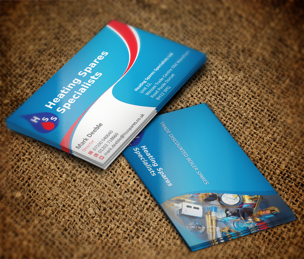 Industrial business card design for a company by mt for Industrial design business