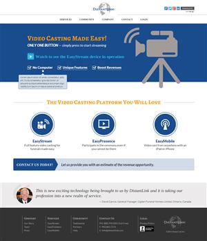 Web Design by NU STUDIO - DistantLink Webpage Look and feel re-design - M...