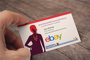 Business Card Design by slapBackChewLater - jewelry,purses,pj's,and retro bathing caps