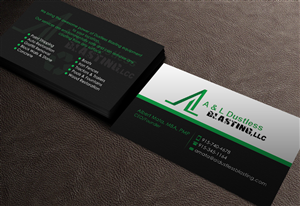 Business Card Design by GTools - A&L Dustless Blasting Business Card