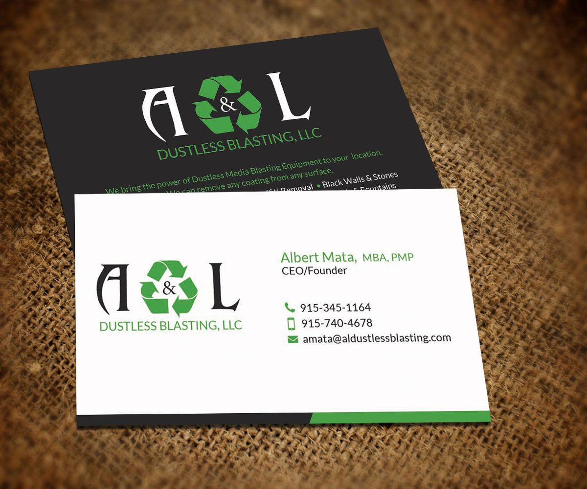 Professional, Elegant, Recycling Business Card Design for a Company ...