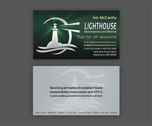 31 business card designs business business card design project for business card design by ethien for lighthouse motorsports and marine design 4195910 colourmoves