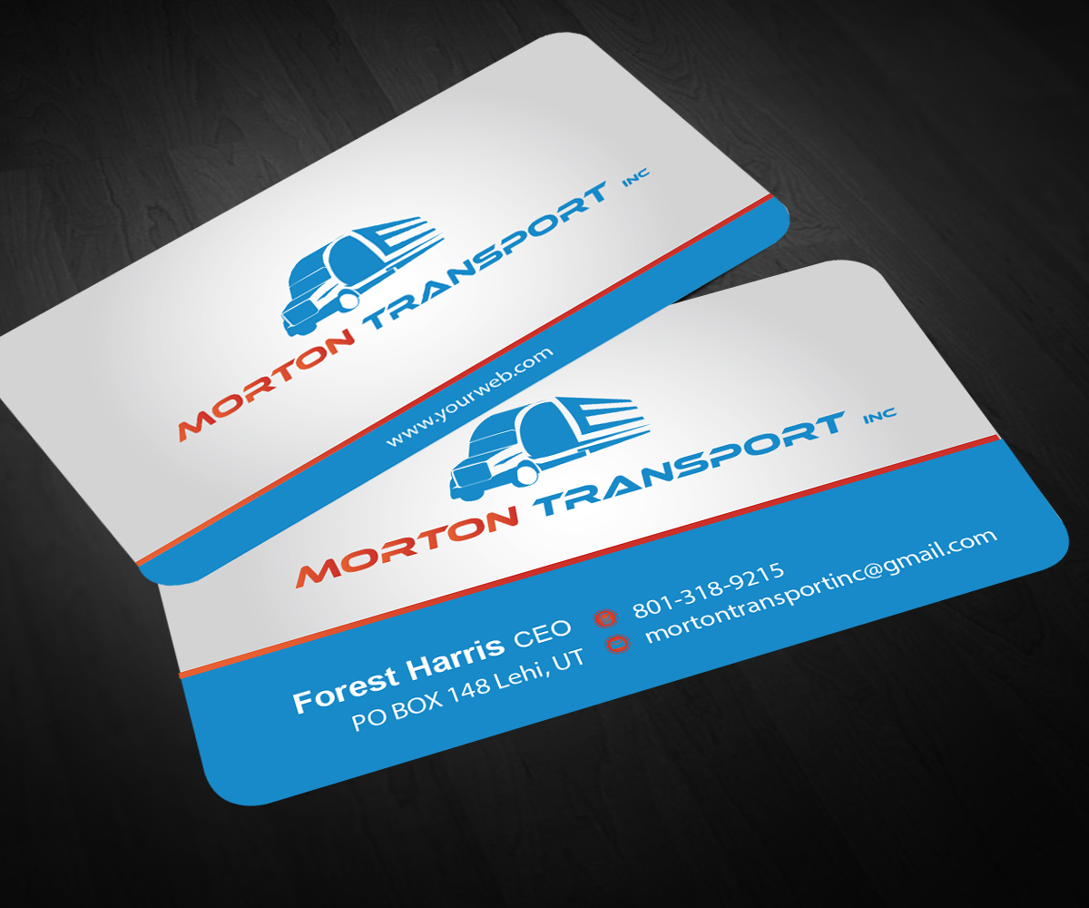 Trucking company business card design for a company by for Trucking business card design