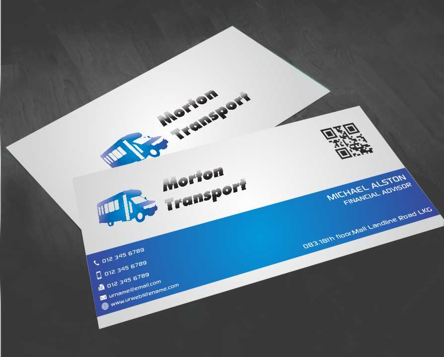 Trucking company business card design for a company by awsomed business card design by awsomed for this project design 4191860 colourmoves