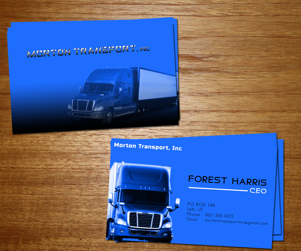 Trucking company business card design for a company by iko design business card design by iko for this project design 4217737 reheart Choice Image
