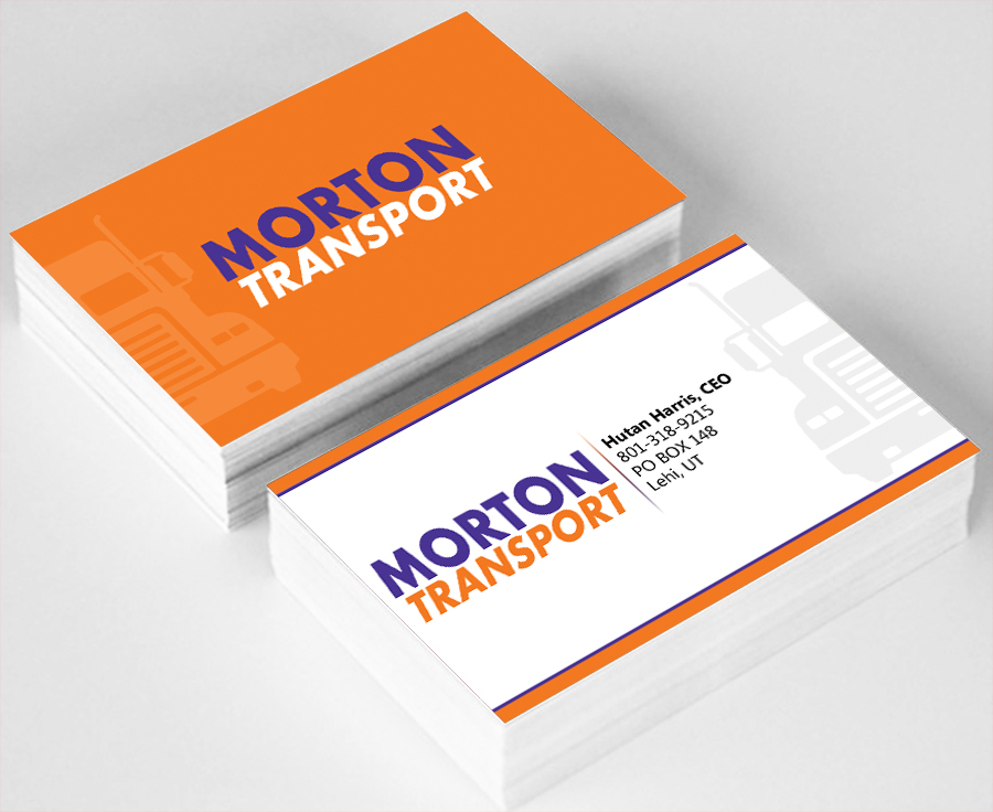 41 professional trucking company business card designs for for Trucking business card design