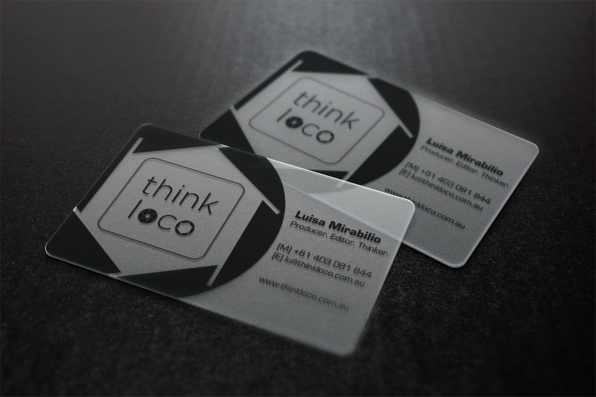 Playful, Bold Business Card Design for Think Loco by MT | Design ...