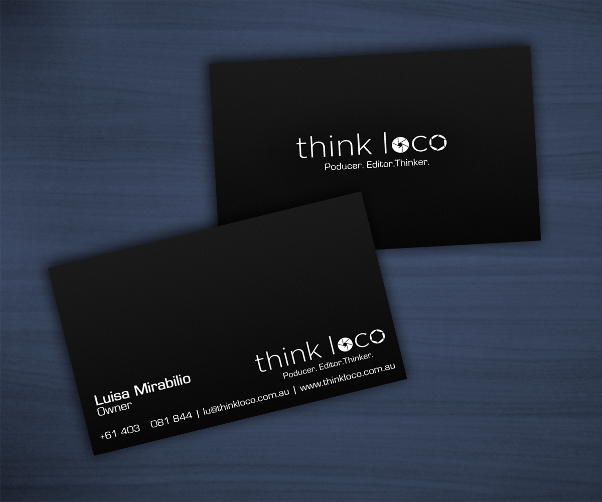 Playful, Bold Business Card Design for Think Loco by HLDesign ...