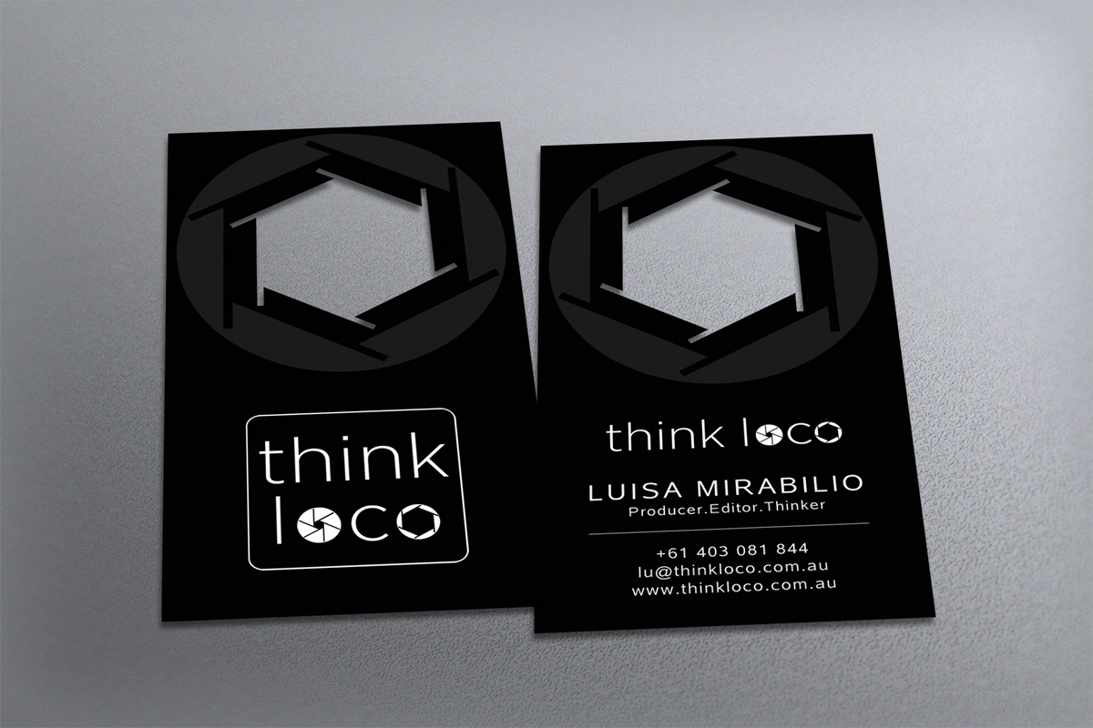 Playful, Bold Business Card Design for Think Loco by diRtY.EMM ...