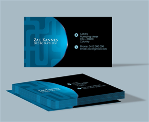 Business Card Design For Wix By Bling Connect Ink Production