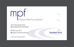 Business Card Design by Smart - MPFoundation Card