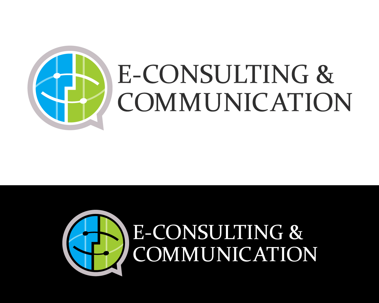 Communication logo design for e consulting by mr designer for Consulting logo design