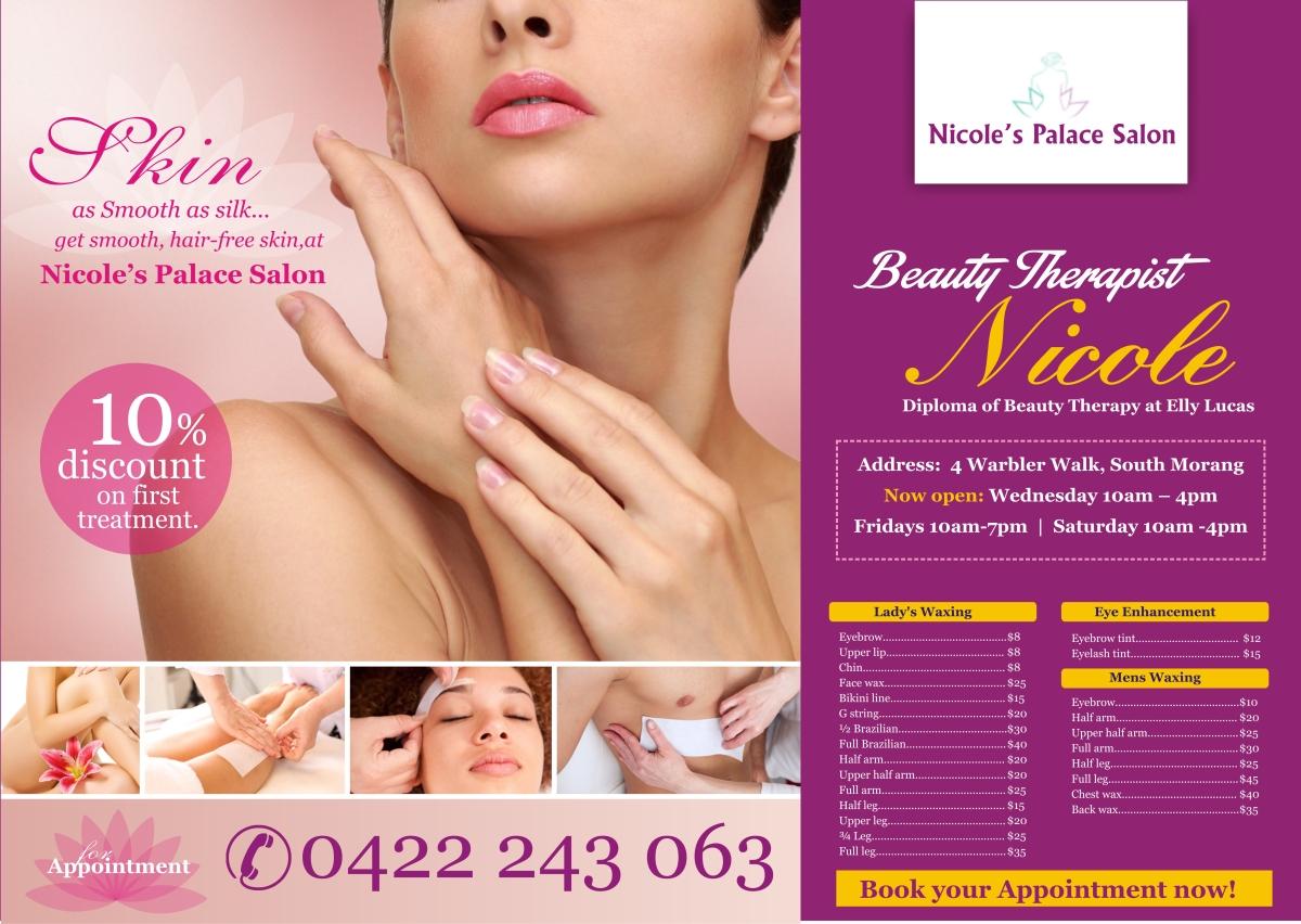 Flyer design design for lydia petrou a company in australia - Beauty design ...