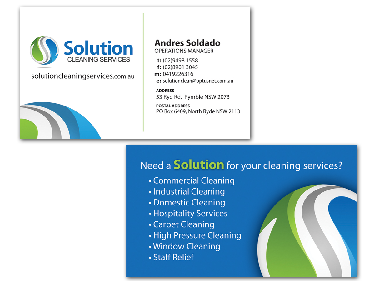 mercial Cleaning Services Business Cards images