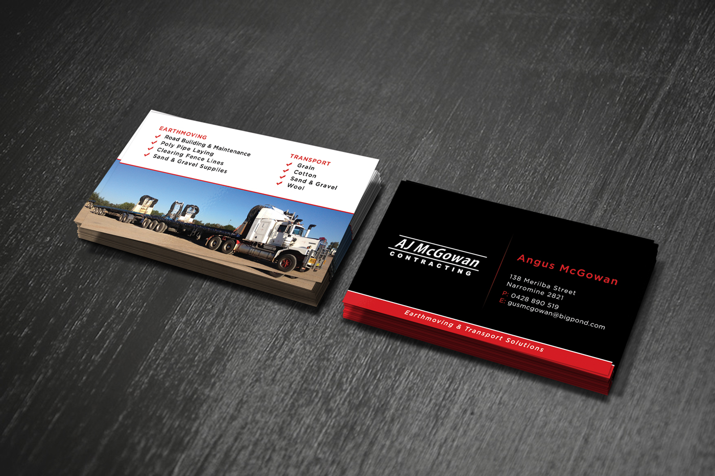 Traditional, Masculine, Contractor Business Card Design for a ...