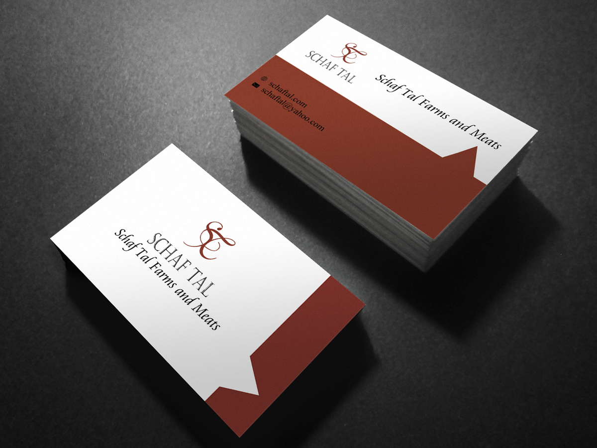 Elegant serious business card design for schaf tal farms schaf business card design by pawana for livestock farm and meat distribution enterprise needs upscale business card magicingreecefo Choice Image