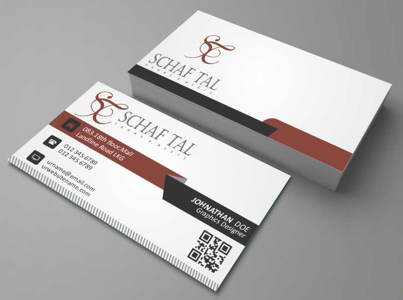 Elegant, Serious Business Card Design for Schaf Tal Farms / Schaf ...