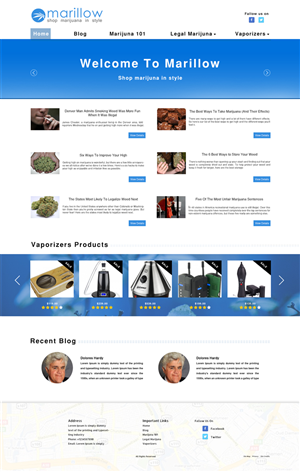 Web Design by Wings on web - Marillow Website Redesign