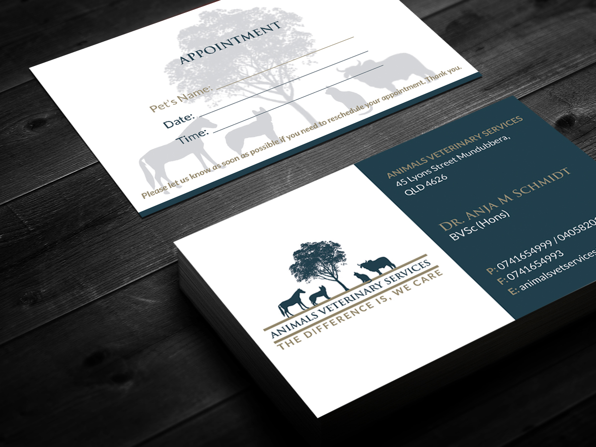 57 Modern Business Card Designs | Veterinary Business Card Design ...