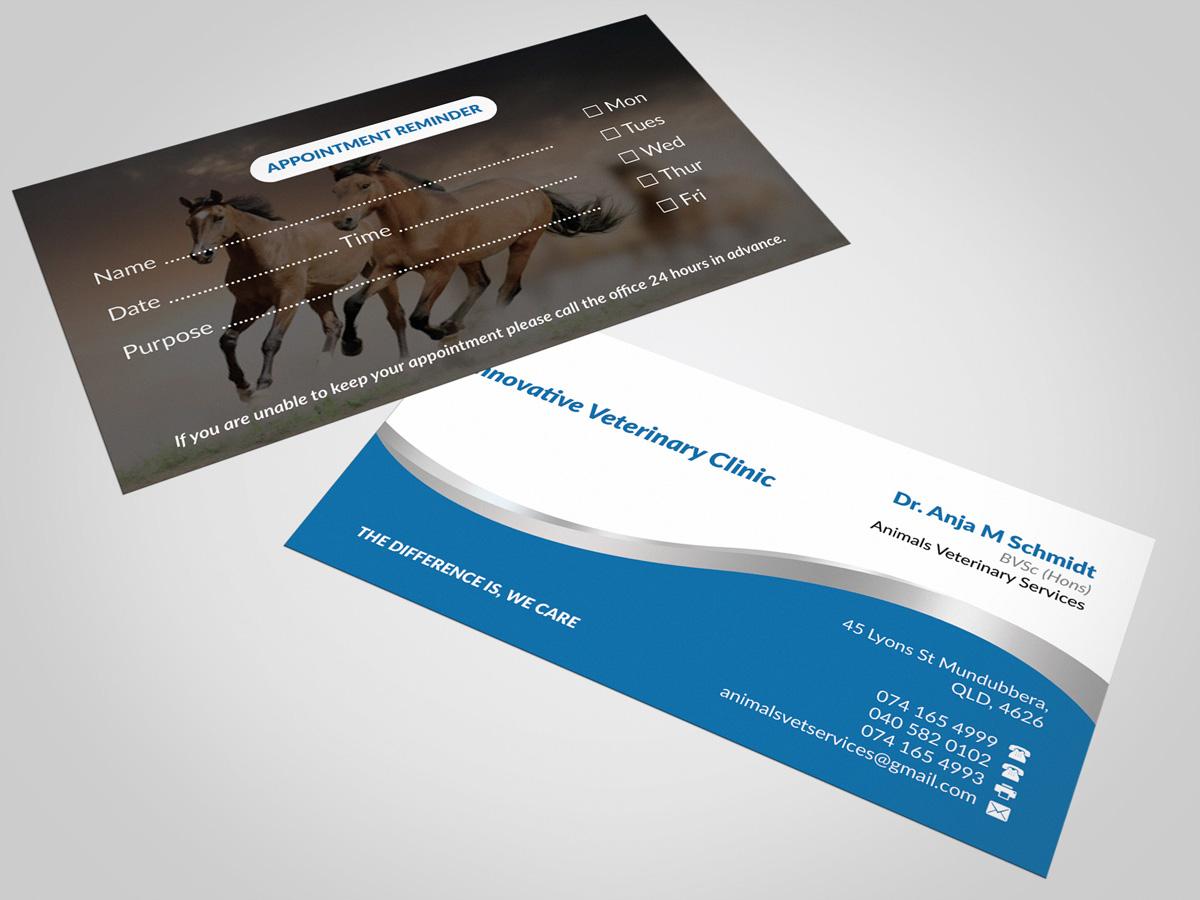 58 Modern Upmarket Veterinary Business Card Designs for a ...