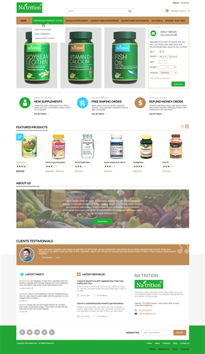 Web Design by Da Miracle - Web page design for a nutritional supplement co...