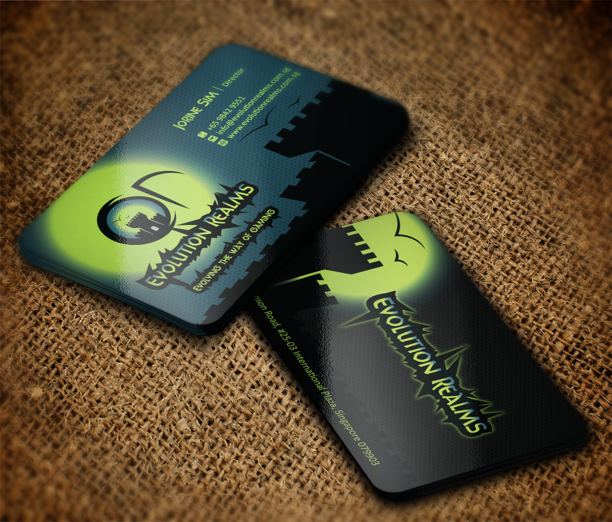 Business card design for desmond tang by mt design 4398969 for Game designer business cards