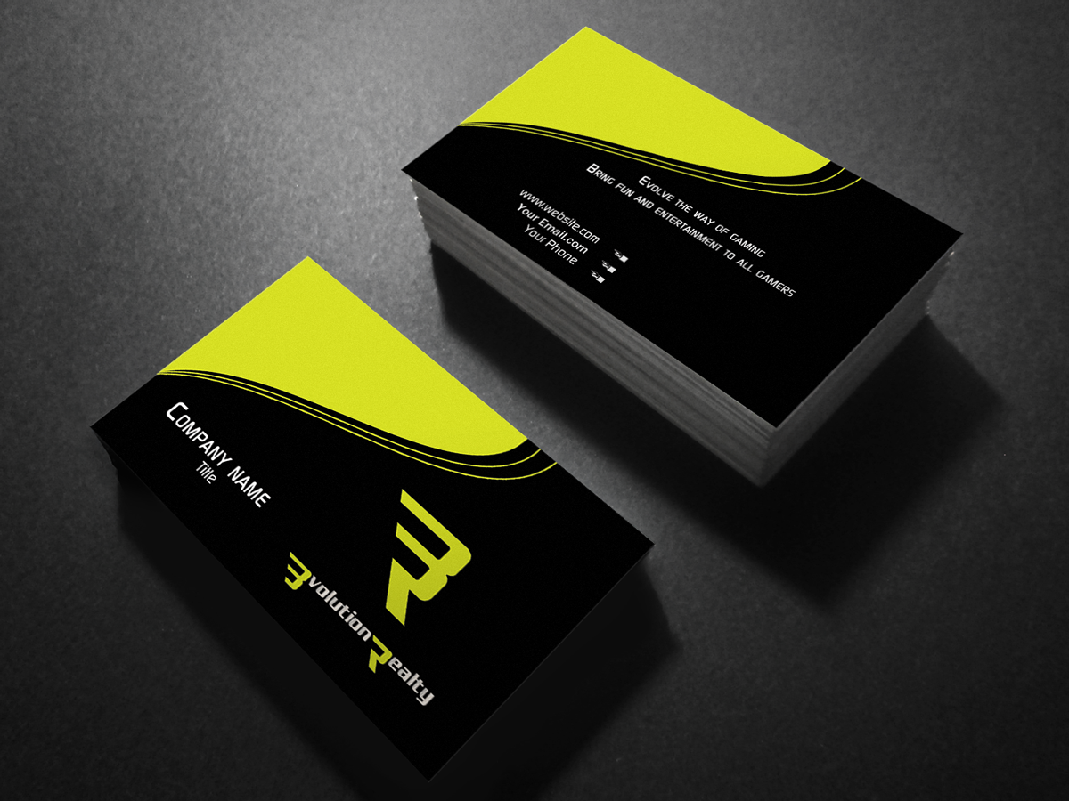 Entertainment Business Card Design for a Company by Creation Lanka ...