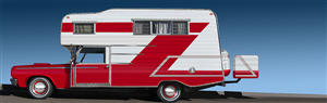 Graphic Design by JR design - Exterior design for a vintage RV