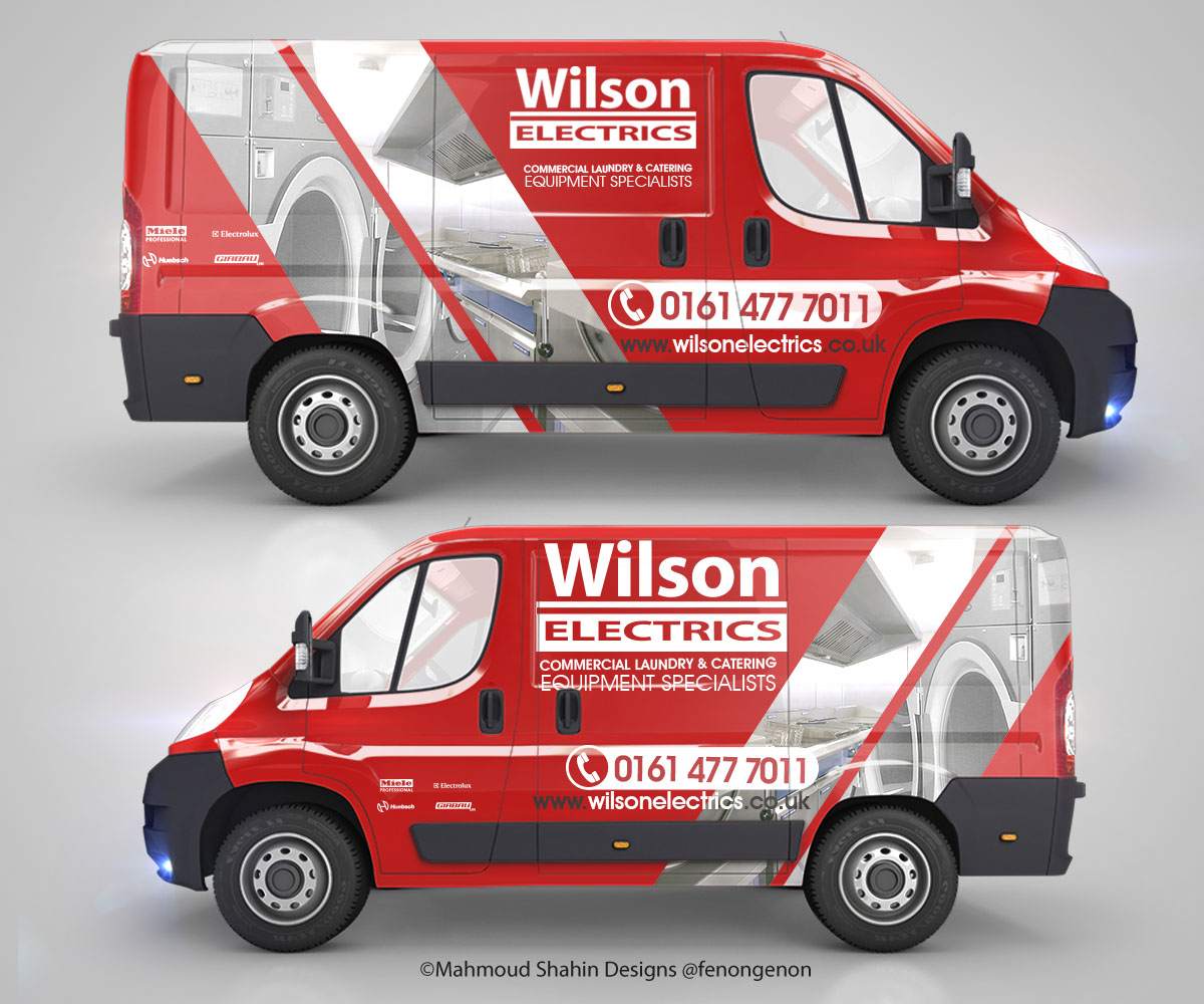 design by mahmoud shahin for vw crafter van sign writing design