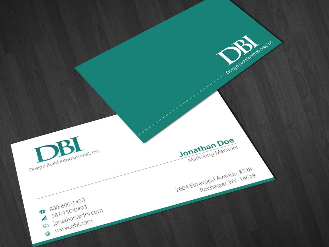 Bold, Serious, Construction Business Card Design for Design Build ...