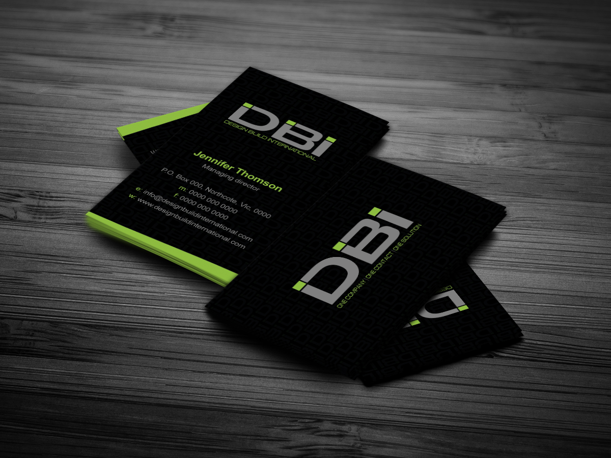 53 Bold Business Card Designs | Construction Business Card Design ...