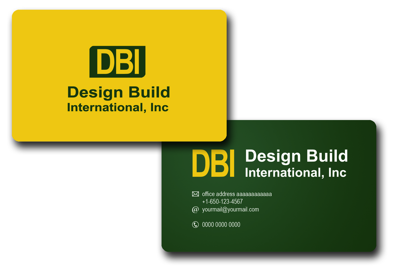 Bold serious construction business card design for design build business card design by alinoubigh for design build international inc design 1199786 reheart