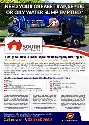 Brochure Design by ESolz Technologies - Liquid waste company brochure