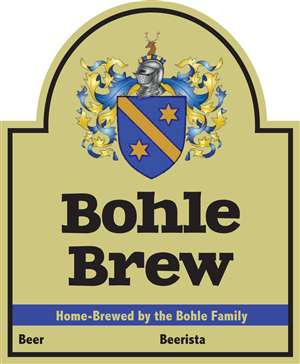 Label Design by Jess K. - Home brewer beer bottle label
