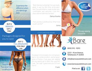 Brochure Design by filp flop - Bare Waxing Brochure