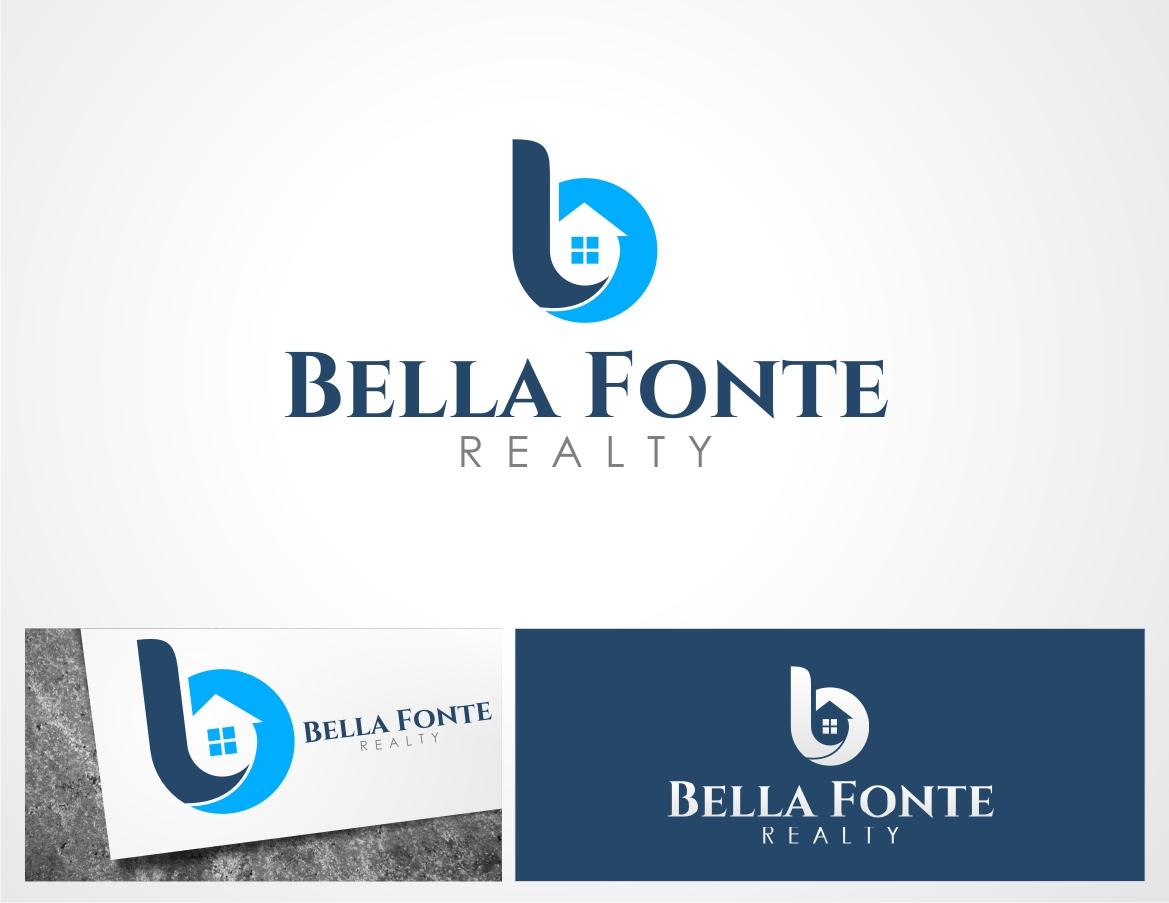 real estate logo design for bella fonte realty by momo57 design