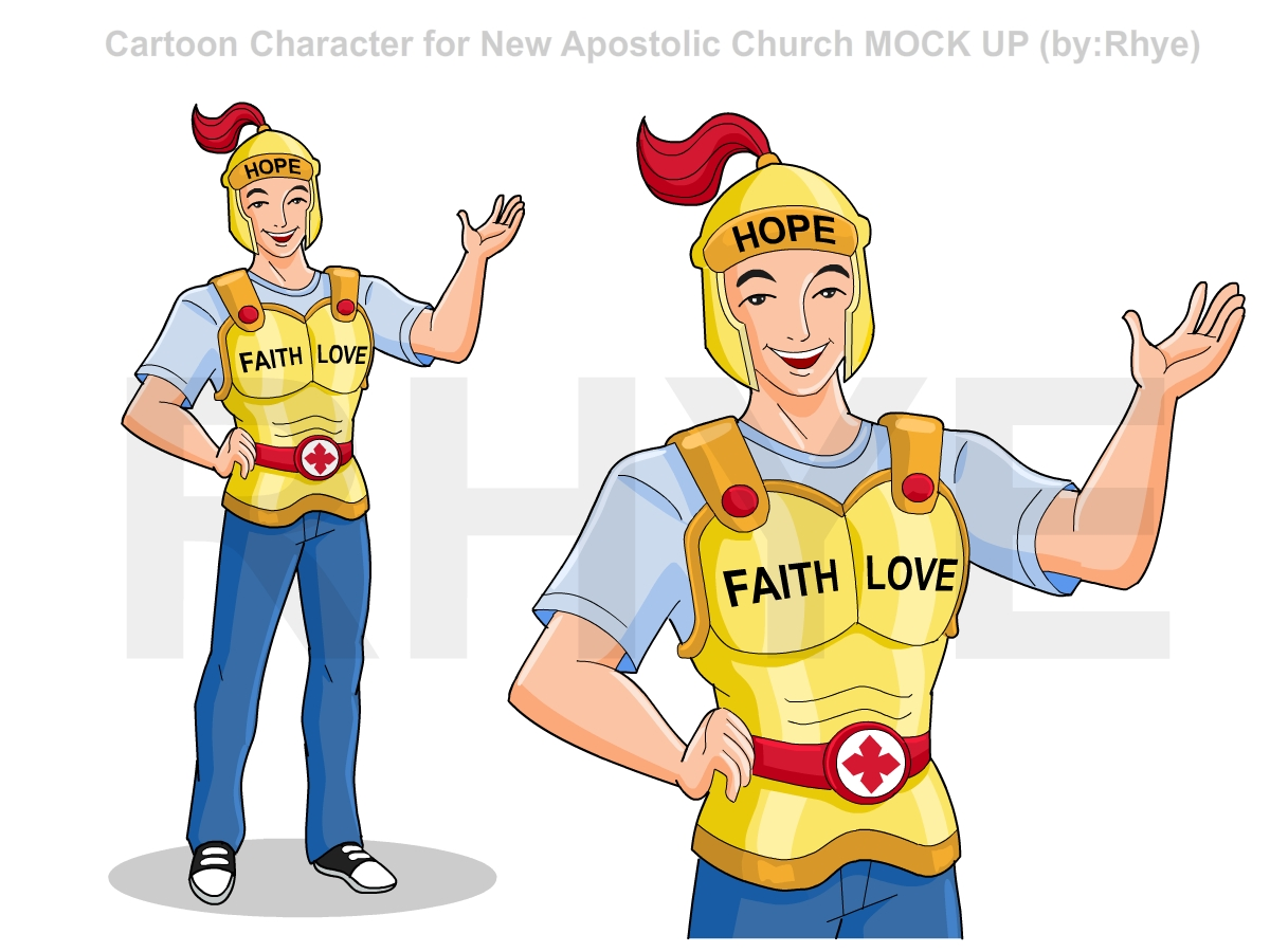 Cartoon Character Design Competition : Cartoon character for new apostolic church illustration