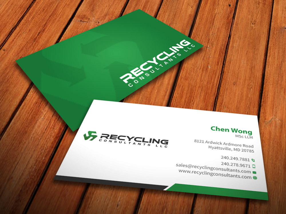 Recycling business card design for a company by mediaproductionart business card design by mediaproductionart for this project design 4248643 colourmoves