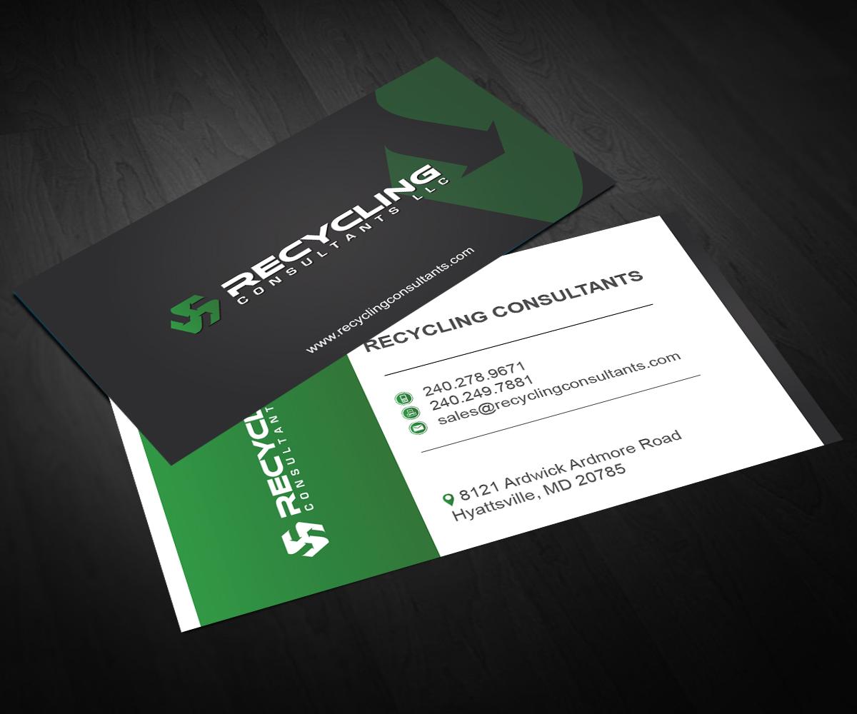 Recycling Visitenkarten Design Für A Company Von Aaron