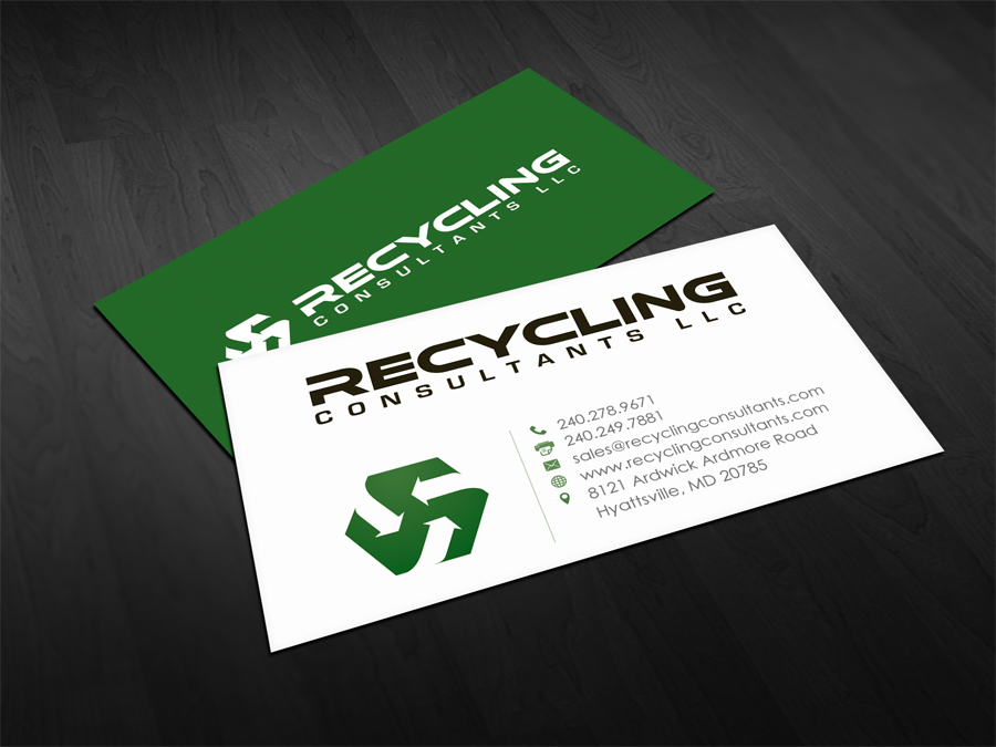379 business card designs recycling business card design project business card design by flexin for this project design 4266663 colourmoves
