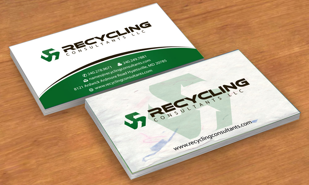 Recycling business card design for a company by sbss design 4253916 business card design by sbss for this project design 4253916 colourmoves