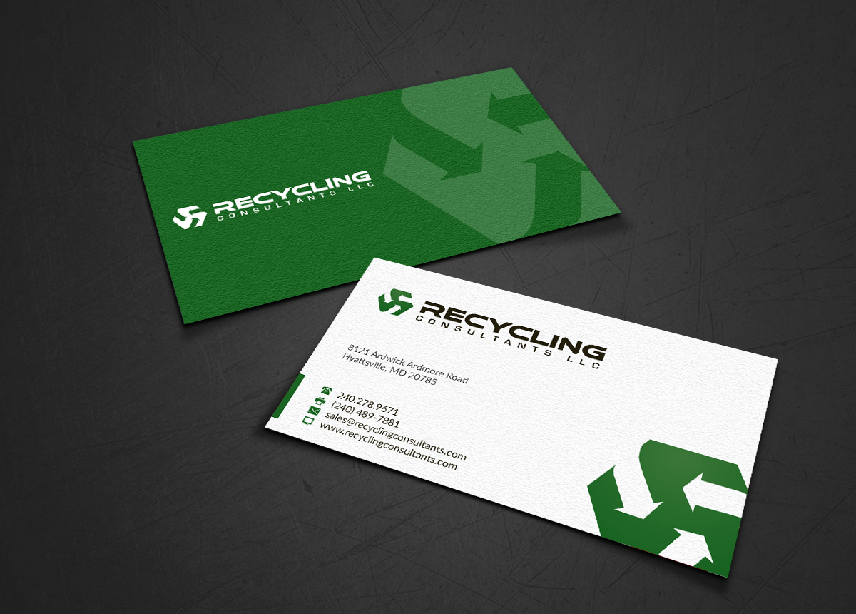 Recycling business card design for a company by webixbd design business card design by webixbd for this project design 4291998 colourmoves