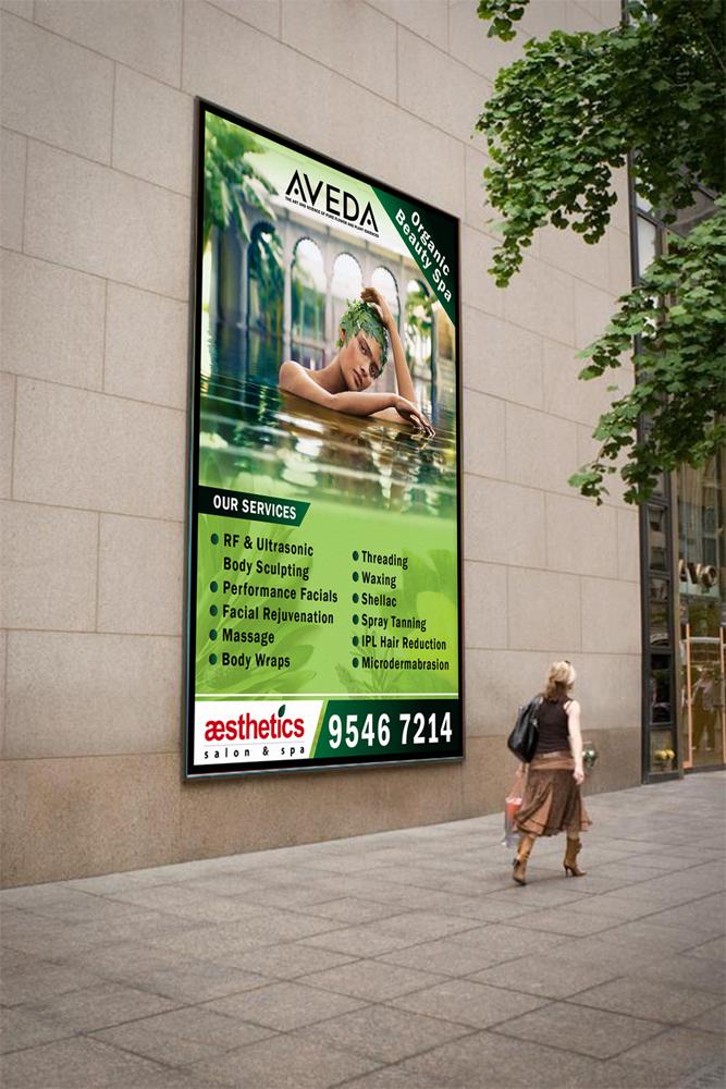 Bold serious poster design for aesthetics salon spa by tornado design 4255838 - Aveda salon washington dc ...