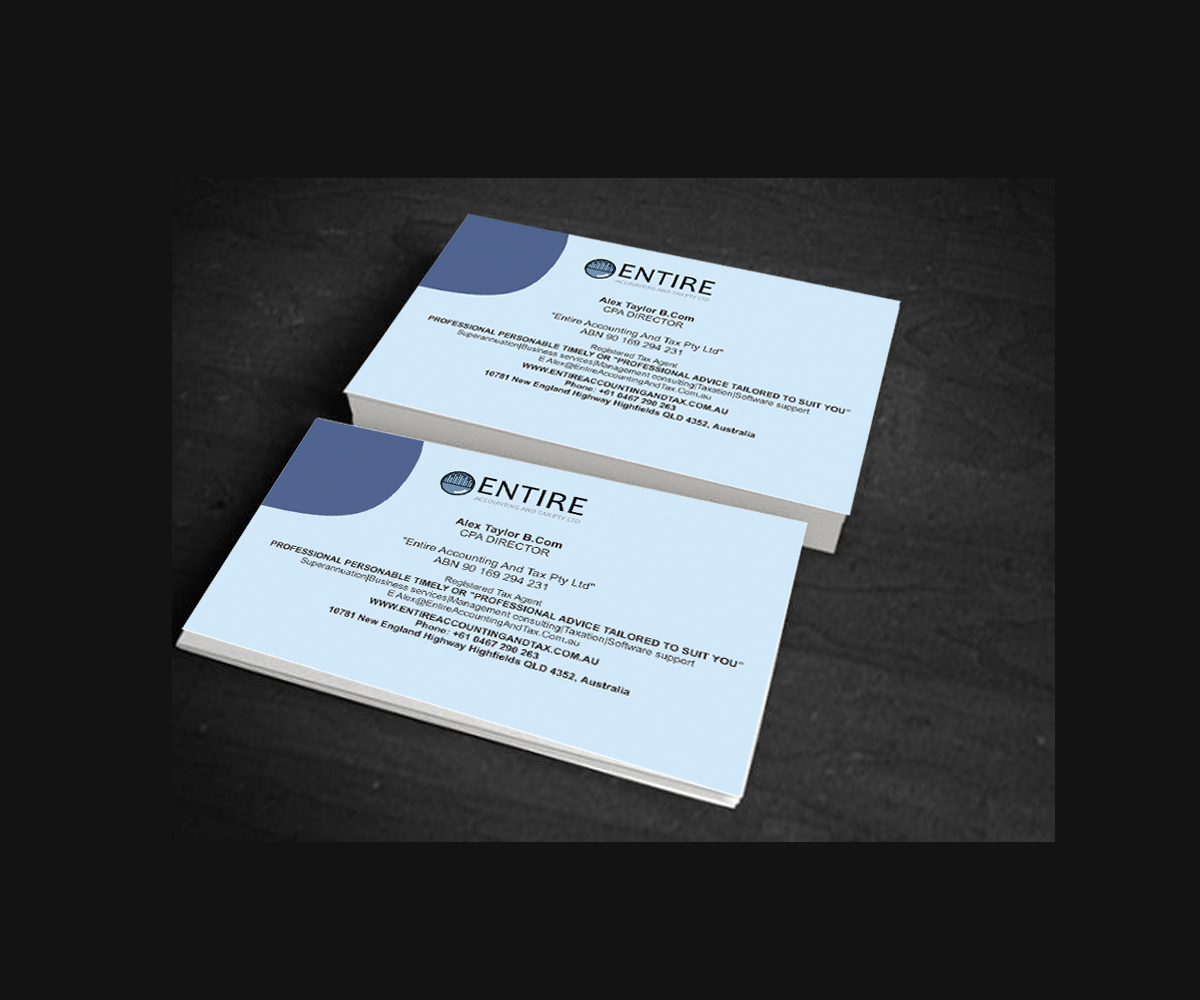 Accounting business card design galleries for inspiration business card design for alex taylor by yani hidayat magicingreecefo Image collections